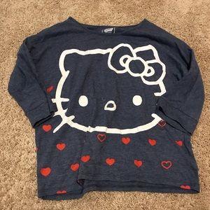 OLD NAVY 3/4 length sleeve hello kitty shirt